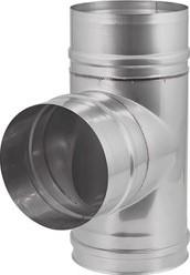 EW diameter  130 mm T-stuk 90 gr I316L (D0,5)