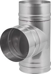 EW diameter  200 mm T-stuk 90 gr I316L (D0,5)