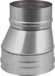 EW diameter  130 mm verloop excentrisch I316L (D0,5)