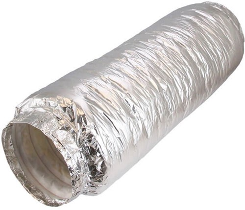 Flexibele geluiddemper non-woven Ø 127 mm en L=500 mm met aansluiting