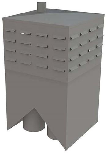 Itho Daalderop schoorsteen (nok) rechts zonder riool incl. tussenkast (2x WP200, RGA80, LT80)