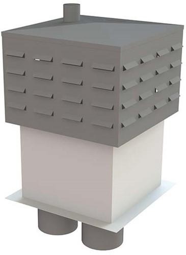 Itho Daalderop schoorsteen (losse top) rechts zonder riool (2x WP200, RGA80, LT80)