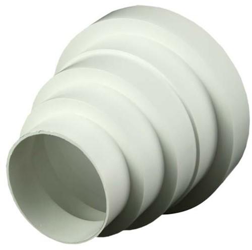 Kunststof ventilatie verloopstuk Ø 80mm - 150mm universeel