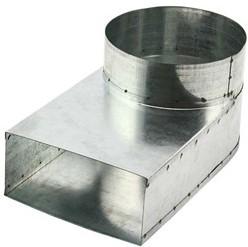 Lepe hoekstuk enkel symetrisch 220x80 diameter diameter 160 mm