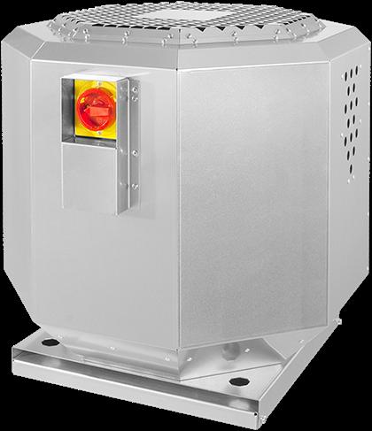 Ruck geluiddempende dakventilator voor keukenafzuiging tot 120°C  - 6130 m³/h - (DVNI 450 E4 20)