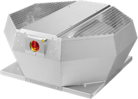 Ruck metalen dakventilator met opendraaiende ventilatie-unit 1100 m³/h (DVA 280 E4P 31)