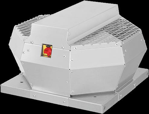 Ruck metalen dakventilator met EC motor, werkschakelaar en constante drukregeling 940m³/h (DVA 220 ECCP 30)