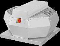 Ruck metalen dakventilator met EC motor, werkschakelaar en constante drukregeling 1200m³/h (DVA 250 ECCP 30)