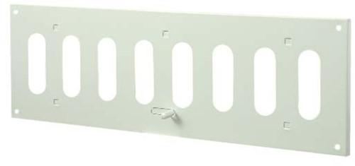 Sleufrooster metaal instelbaar 300mm x 100mm wit rechthoekig (MR3010R)