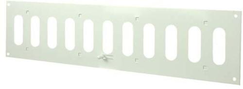 Sleufrooster metaal instelbaar 400mm x 100mm wit rechthoekig (MR4010R)