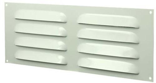 Sleufrooster metaal 260mm x 105mm wit rechthoekig (MR26105)
