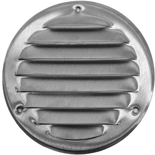 Ventilatierooster metaal rond zink Ø 100 mm (MR100ZN)