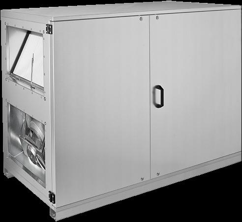 Ruck ETA luchtbehandelingskast met tegenstroom en elektrisch warmteregister - rechts - 1520m³/h (ETA K 1200H EO JR)