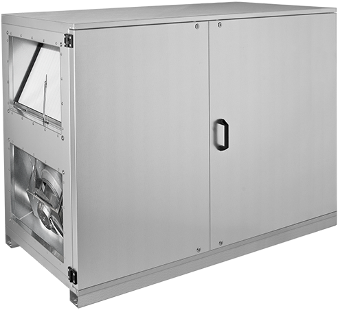 Ruck ETA luchtbehandelingskast met tegenstroom en PWW verwarmer - links - 1500m³/h (ETA K 1200H WO JL)