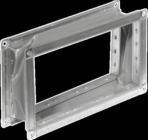 Ruck flexibel verbindingsstuk gegalvaniseerd plaatstaal 500 x 500 (VS 5050)