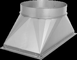 Ruck overgang kanaal/pijp - 500x250 - Ø250 met rubber afdichting (UKR 5025 03)
