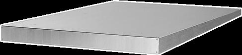 Ruck regendak voor ISOR 125 - 250, gegalvaniseerd staal (RD ISOR 01)
