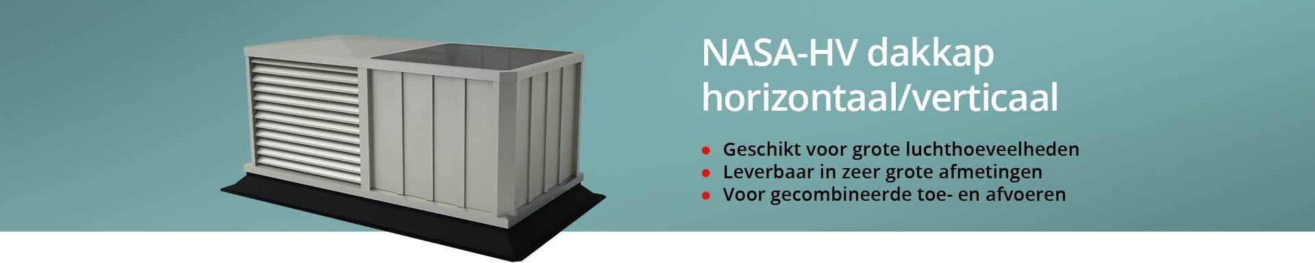 NASA-HV dakkap horizontaal en verticaal gecombineerd