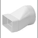 Kunststof verloop 110x55 mm naar Ø 100 mm