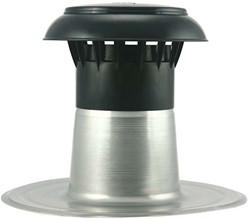Platdak ontluchting met kunststof kap Ø110-125mm
