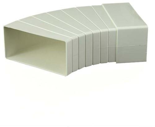 Rechthoekig kunststof horizontale 15-60 ° bocht 110x55 - KLH15-60