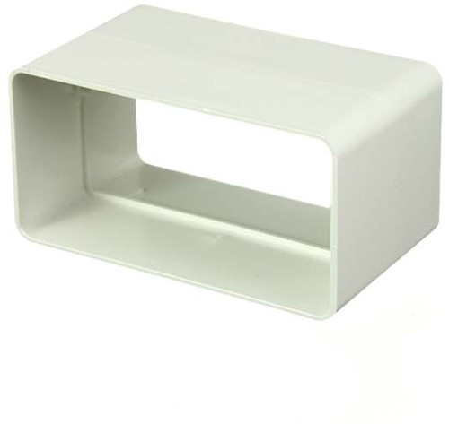 Rechthoekig kunststof koppelstuk 110x55 - KS