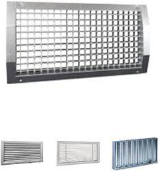 Rechthoekige ventilatieroosters