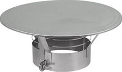 Regenkap met gaas diameter  400 mm I316L (D0,6)