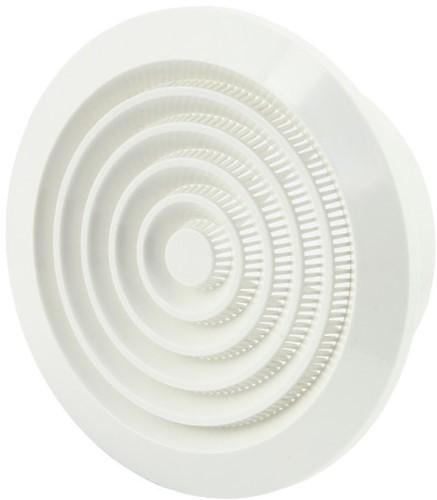 Ventilatierooster kunststof Ø 125 mm rond met grill (NGA125)