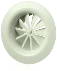 Wervelrooster plafond staal rond CRS-160mm