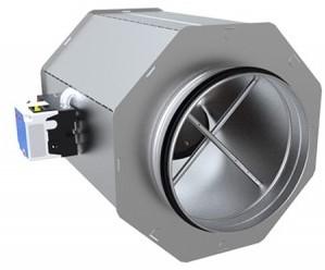 Ronde VAV variabele volumeregelaar dubbelwandig Ø 125 mm (BRD)