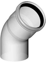 Rookgasafvoer bocht 45 graden 80 mm kunststof PP