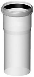 Rookgasafvoer buis  80 mm  L=500mm kunststof PP