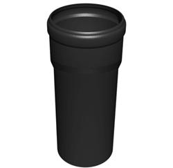 Luchttoevoer buis 80mm L=250mm kunststof PP (zwart)
