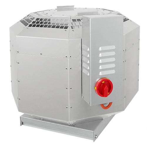Ruck geïsoleerde dakventilator voor keukenafzuiging tot 120°C - 3860 m³/h (DVNI 315 E2 30)