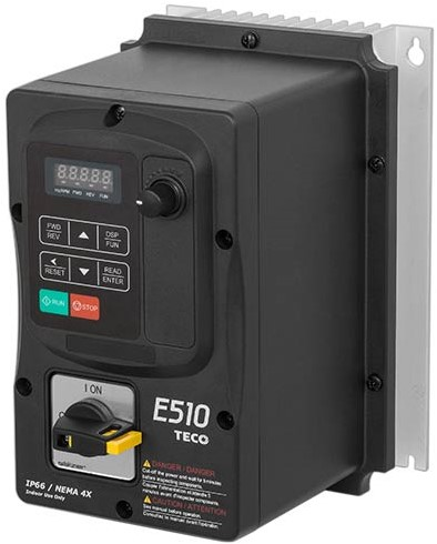 Ruck frequentie omvormer 0 - 400 V 1~ - IP66 voor MPC 800 D6 T40 (FU 55 18)