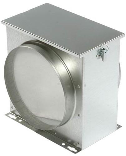 Ruck luchtfilterbox met vliesfilter Ø 125 (FV 125)