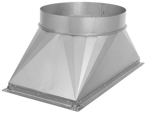 Ruck overgang kanaal/pijp - 800x500 - Ø500 met rubber afdichting (UKR 8050 03)