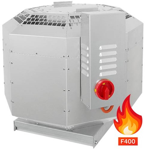 Ruck geïsoleerde rookgas-dakventilator tot 200°C constant en 400°C tot 120 min - 2342 m³/h - DVNI 250 D2 F4 30