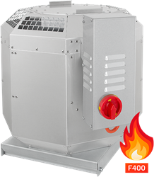 Ruck rookgas-dakventilator tot 200°C constant en 400°C tot 120 min - 2342 m³/h - DVN 250 D2 F4 30
