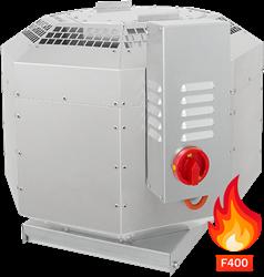 Ruck geïsoleerde rookgas-dakventilator tot 200°C constant en 400°C tot 120 min - 3990 m³/h - DVNI 400 D4 F4 30