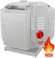 Rookgas-dakventilator verticaal, tot 200°C constant, 400°C / 120min geluiddempend (DVNI D F4)
