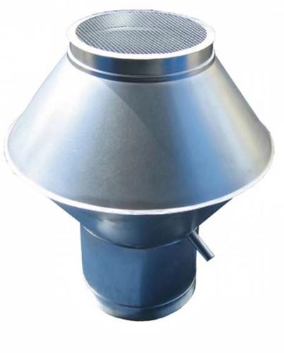 Deflectorkap rond 125 mm (RVS / INOX)