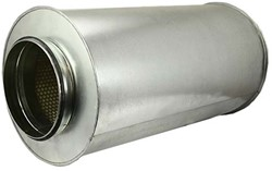 Ronde geluiddemper Ø 400 mm - L=900 mm (sendz. verz.) (100 mm iso)