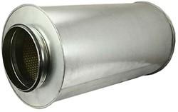 Ronde geluiddemper Ø 400 mm - L=600 mm (sendz. verz.) (100 mm iso)