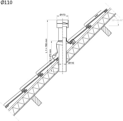 Ubbink Ventub dakdoorvoer Ø110mm (zonder schaal)-2