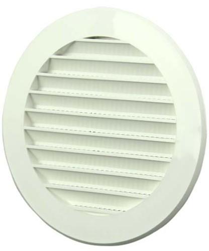 Schoepenrooster rond kunststof Ø 125mm wit (VR125)