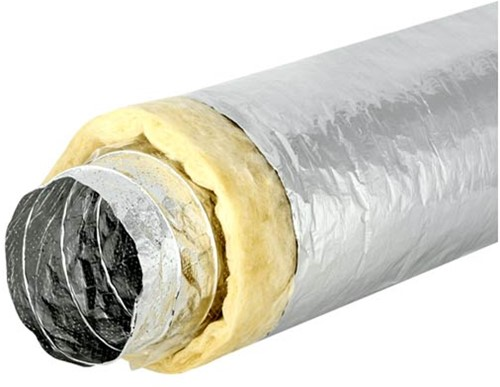 Sonodec akoestisch geïsoleerde 127 mm ventilatieslang (5 meter)