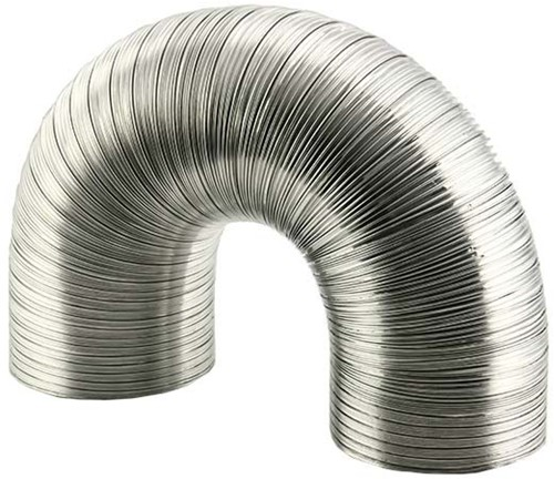 Aluminium ventilatieslang Ø 100 mm en L=1500 mm - blank