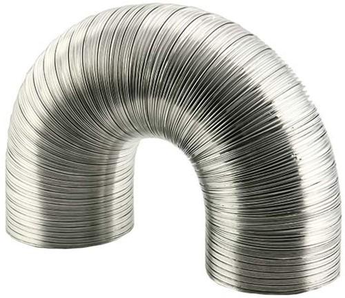 Aluminium ventilatieslang Ø 125 mm en L=1500 mm - blank